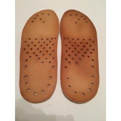 Wkładki do butów ze skóry naturalnej 5 mm cieniowane