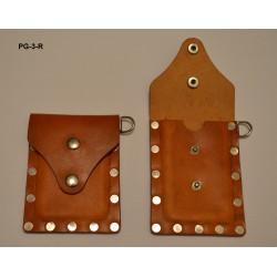 "PG-3-R - Etui na identyfikator wykonany ze skóry naturalnej ""Jucht naturalny"""